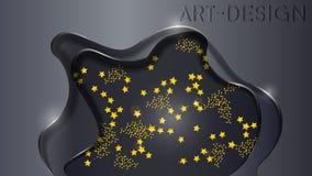 Wszechświat jest za żelazną kurtyną royalty ilustracja