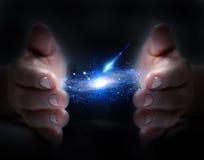 Wszechświat w ręce Zdjęcia Royalty Free