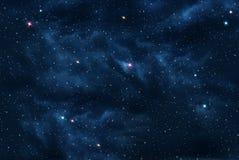 Wszechświat wypełniał z gwiazdami Obraz Royalty Free