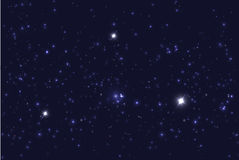 Wszechświat wypełniał z gwiazdami Błękitny gwiaździsty niebo wektoru tło Ilustracja Wektor