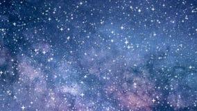 Wszechświat z wieloskładnikowymi gwiazdami w chaotycznym ruchu ilustracji