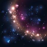 Wszechświat, galaxy z gwiazdami, abstrakcjonistyczny wektor Obrazy Stock