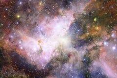 Wszech?wiaty wype?niaj?cy gwiazdy, mg?awica i galaxy, Pozaziemska sztuka, nauki fikci tapeta royalty ilustracja