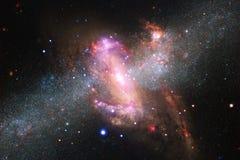 Wszech?wiaty wype?niaj?cy gwiazdy, mg?awica i galaxy, Pozaziemska sztuka, nauki fikci tapeta obraz stock