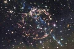 Wszechrzecza scena z gwiazdami i galaxies w głębokiej przestrzeni obraz stock
