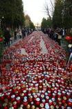 Wszystkie świętego dzień, Mirogoj cmentarz w Zagreb Fotografia Royalty Free
