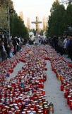 Wszystkie świętego dzień, Mirogoj cmentarz w Zagreb Obraz Royalty Free