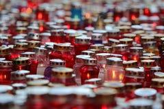 Wszystkie świętego dzień, Mirogoj cmentarz w Zagreb Zdjęcia Stock