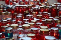 Wszystkie świętego dzień, Mirogoj cmentarz w Zagreb Obrazy Royalty Free