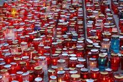 Wszystkie świętego dzień, Mirogoj cmentarz w Zagreb Zdjęcie Stock