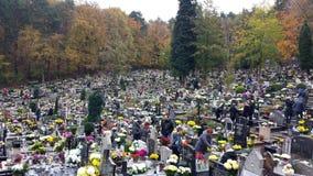 Wszystkie świętego dzień w cmentarzu Zdjęcia Stock
