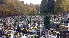 Wszystkie świętego dzień w cmentarzu Zdjęcie Stock
