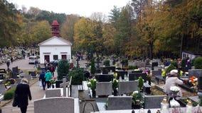 Wszystkie świętego dzień w cmentarzu Obraz Royalty Free