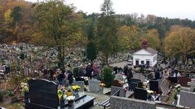 Wszystkie świętego dzień w cmentarzu Obrazy Royalty Free