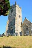 Wszystkie świętego kościół, Godshill, wyspa Wight Zdjęcia Stock