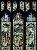 Wszystkie świętego Kościelnego witrażu Zachodnia nawa obraz royalty free