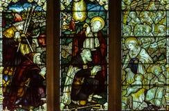Wszystkie świętego Kościelnego witrażu Zachodnia nawa A zdjęcie royalty free