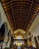 Wszystkie świętego Nave Kościelny sufit Obraz Royalty Free