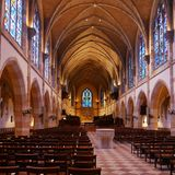 Wszystkie święty kaplica--Sewanee, Tennessee zdjęcia royalty free