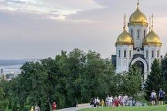 Wszystkie święty Kościelni na Mamayev Kurgan obraz royalty free