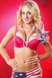 wszystkie amerykańscy blondyny Zdjęcie Royalty Free