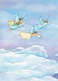 wszystkie aniołowie jakaś bożych narodzeń elementów ilustracyjne indywidualne przedmiotów skala rozmiaru tekstury wektor royalty ilustracja