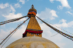 wszystkie boudhanath Buddha przygląda się pierwszoplanową gigantyczną złotą hemisferę Kathmandu Nepal widzii małej iglicy stupy o Fotografia Stock