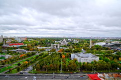 wszystkie centre powystawowa Moscow panorama Russia Obraz Royalty Free
