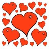 wszystkie cmyk koloru dzień wszystkie elementów kartoteki serc ilustracyjny płatowaty trybu druk przygotowywał oddzielnie s valen Obraz Royalty Free