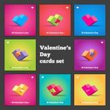 wszystkie cmyk koloru dzień wszystkie elementów kartoteki serc ilustracyjny płatowaty trybu druk przygotowywał oddzielnie s valen Zdjęcie Stock