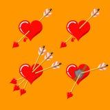 wszystkie cmyk koloru dzień wszystkie elementów kartoteki serc ilustracyjny płatowaty trybu druk przygotowywał oddzielnie s valen Obrazy Royalty Free