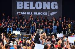 Wszystkie czerni drużynowi dzięki ich fan Zdjęcie Royalty Free