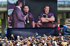 Wszystkie czernie trenują Steve Hansen i Richie McCaw Fotografia Royalty Free