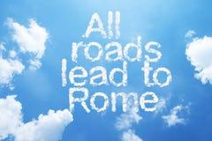 wszystkie drogi prowadzą do Rzymu fotografia royalty free
