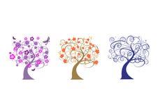 wszystkie drzewa ilustracja wektor