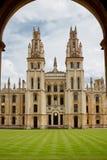 Wszystkie duszy szkoły wyższa, Oxford, UK Zdjęcia Stock