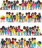 Wszystkie grupa wiekowa amerykan afrykańskiego pochodzenia ludzie Pokolenia obsługują i kobieta Obraz Stock