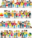 Wszystkie grupa wiekowa europejscy ludzie Pokolenia obsługują i kobieta Obrazy Stock