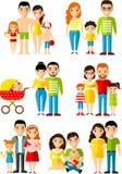 Wszystkie grupa wiekowa europejscy ludzie Pokolenia obsługują i kobieta Zdjęcia Stock