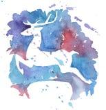 wszystkie jakaś bożych narodzeń jelenich elementów ilustracyjne indywidualne przedmiotów skala rozmiaru tekstury wektor Obraz Royalty Free