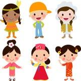 wszystkie jakaś społeczności elementów globalne ilustracyjne jednostki dzieciaków przedmiotów skala rozmiaru tekstury wektorowy ś Fotografia Stock