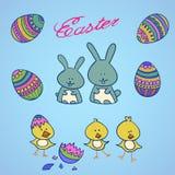 wszystkie jakaś Easter elementów ilustracyjnych indywidualnych przedmiotów szalkowe setu rozmiaru tekstury wektor Obrazy Royalty Free