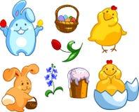 wszystkie jakaś Easter elementów ilustracyjnych indywidualnych przedmiotów szalkowe setu rozmiaru tekstury wektor Zdjęcie Stock
