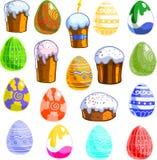 wszystkie jakaś Easter elementów ilustracyjnych indywidualnych przedmiotów szalkowe setu rozmiaru tekstury wektor Fotografia Stock