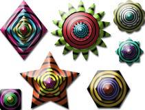 wszystkie kolorowe kształt Zdjęcie Stock