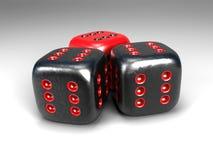 wszystkie kostka do gry sześć trzy Obrazy Stock