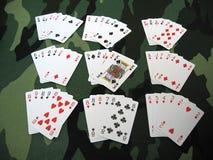 wszystkie pokera. Obrazy Stock