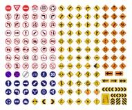 Wszystkie ruchów drogowych znaki Zdjęcia Stock