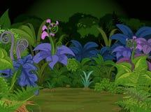 wszystkie rysunkowi dżungli krajobrazu palmy ołówka drzewa Zdjęcia Royalty Free