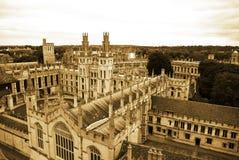 wszystkie szkoła wyższa Oxford s duszy uniwersytet Zdjęcia Stock